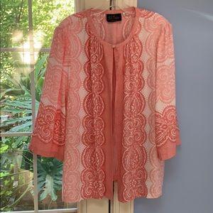 Jackets & Blazers - Bob Mackie xl pink light jacket. $15